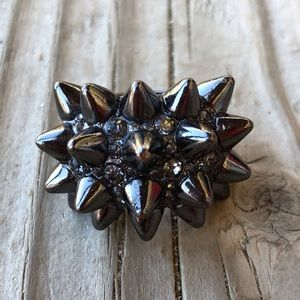 WOW! BCBGMaxAzria Spiked Hematite Ring!